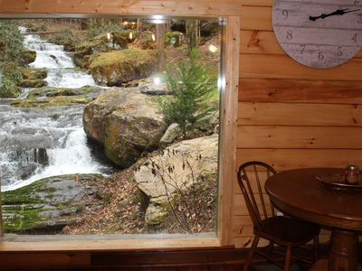 Photo for Stunning WATERFALL VIEW, from INSIDE & OUT of Historic Cabin