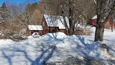 House is on a well plowed road, Driveway is plowed after each storm.