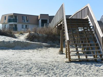 Photo for Oceanfront, First Floor, Fully Gated, Family Friendly, Private Beach Access,