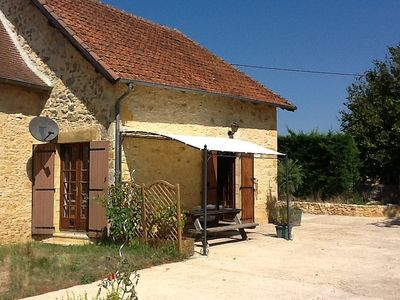 Photo for Charming 2 bedroom stone house, with lovely country views and near Sarlat