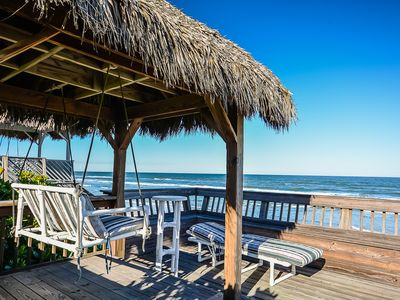 Photo for 5747 S. Atlantic - Large Oceanfront Deck on Car Free Beach
