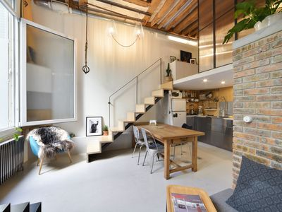 Photo for Stylish Industrial Loft near Bastille for 2p