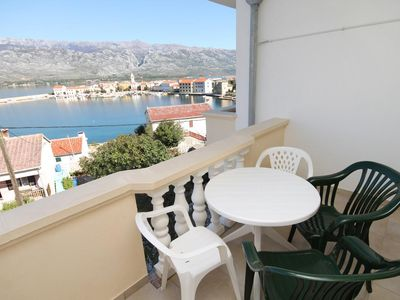 Photo for One bedroom apartment with terrace and sea view Vinjerac (Zadar)