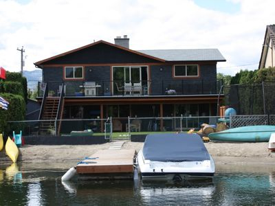 Photo for Lakefront 2 bedroom ground level suite with hot tub.