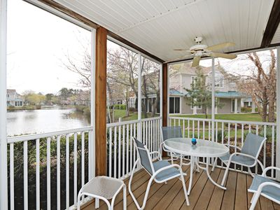 Photo for 56162: Lakefront 3BR Sea Colony West condo! Private beach, pools, tennis ...
