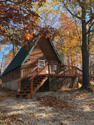 Photo for NEW LISTING! Tucked-A-Way Cabin In The Woods, Free Park Pass
