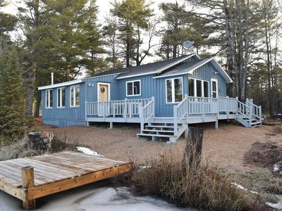 Photo for Vacation cottage on a beautiful 110 acre lake with a Sandy Beach,
