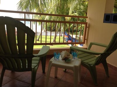 Photo for Very Private and Romantic 1-br Beachfront Condo, WiFi, screen doors and windows