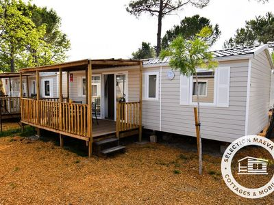 Photo for Camping Argelès Vacances **** - Maeva Camping - Mobile Home Evolution 4 Rooms 6/8 People conditioning