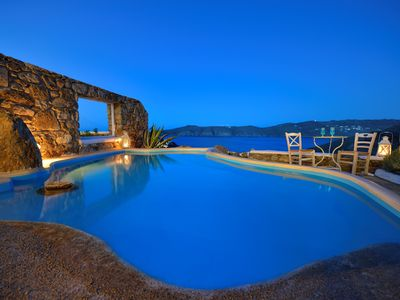 Photo for Villa Dalpura Mykonos, 3-bedroom villa in Panormos 800 m from beach up to 6 Guests