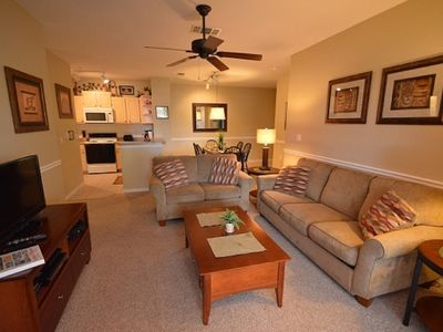 Photo for 3-105 Ground floor, patio, steps from the  swimming pool, gated Resort, tennis