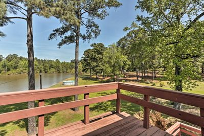 Embrace lake living at this 3-bedroom, 3-bath vacation rental cabin.