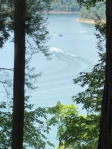 Deck view. Another beautiful day on Lake Cumberland!