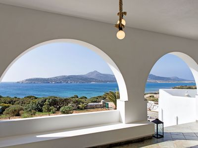 Photo for Beachfront Sea Villa in Antiparos!
