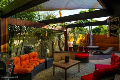 Enchanting seating area to chill and grill!