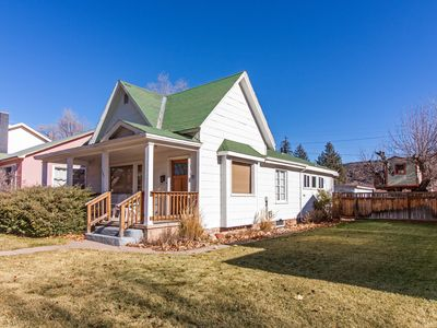Photo for Charming home w/ fireplace & private washer/dryer, close to river & bike path!