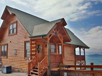 Photo for You will feel you are vacationing in a tethered balloon in this spacious luxury Pigeon Forge cabin.