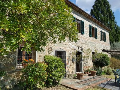 Photo for Peaceful Tuscan farmhouse, magnificent views. Near Lucca, Pescia, Florence, Pisa
