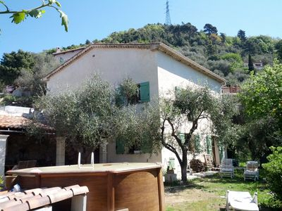 Photo for Near Nice, beautiful attic apartment in villa surrounded by nature