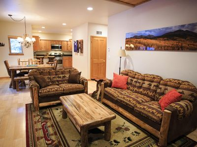 Photo for Large 3 Bed / 2.5 Townhome. Private Hot Tub on the Bus Line!