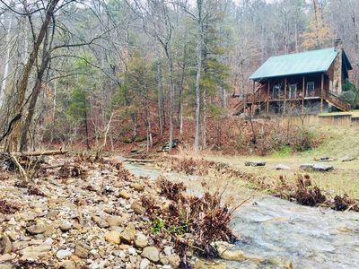 Photo for Creekside Cabin - Cozy Cabin Overlooking Year Round Creek