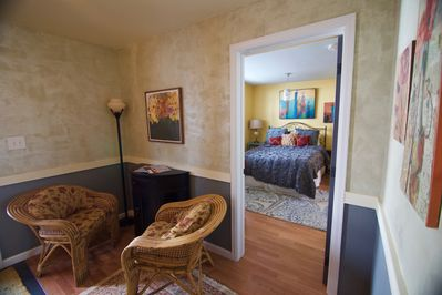 Spacious entry way leading into the bedroom.