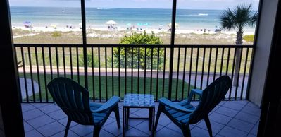 Photo for Beach front condo. Spacious 2 bedroom 2 bath,  2nd floor, just steps from beach!