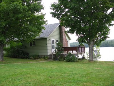 Photo for Lakefront getaway with panaromic views of Damariscotta Lake inside and out!