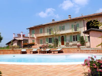 Photo for Wine, food, and landscape in Monferrato in a countryhouse with private pool