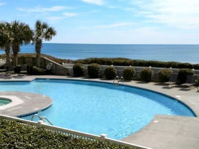 Photo for Ocean Club-Oceanfront 3Bd, Heated Pool, Jacuzzi, Elevator, Fishing Pier, Gym