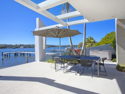 Photo for One Bedroom Absolute Waterfront Apartment overlooking the Noosa River