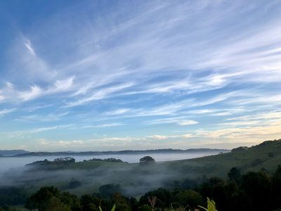 Photo for Newrybar studio in Bangalow/Byron Hinterland with stunning views, private sauna