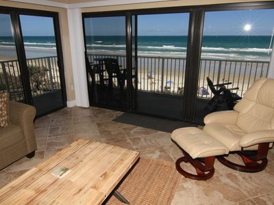 Photo for Updated Urban Loft! 3/2 Sleeps 8, Corner Beachfront Condo, No-Drive Beach!