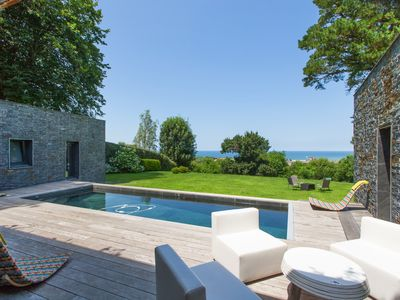 Photo for CIBOURE, SEA VIEW HOUSE WITH SWIMMING POOL - BL298 - BARNES