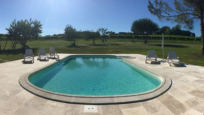 Relax around our pool and listen to the sounds of the countryside