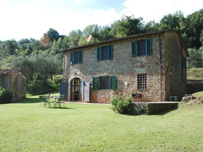 Photo for Private Villa with private pool, internet, TV, patio, panoramic view, parking, close to Lucca