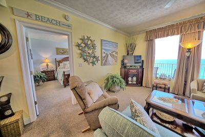 ANOTHER GREAT VIEW OF THE GREAT ROOM , MASTER BEDROOM AND BEAUTIFUL EMERALD GULF
