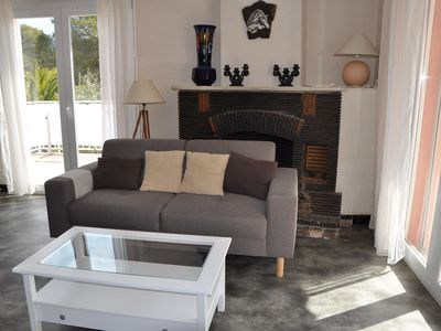 Photo for Apprt 3 bedrooms with large terrace 80 meters walk to the beach