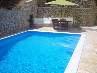 Photo for Villa Fotini with private pool  sea views 100 meters from the beach an