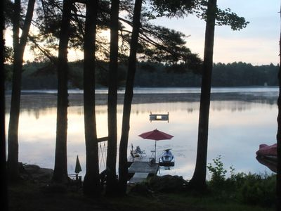 Photo for Lakefront Cottage with Hot Tub Near Portland