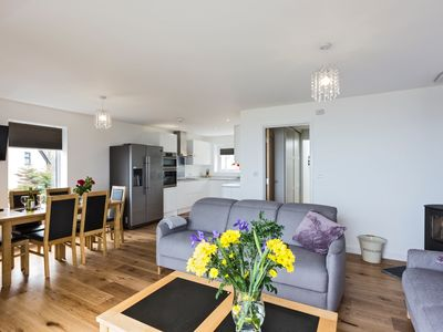 Photo for Stunning 3 bedroom house in St Ives, sleeps 6, with Seaviews, parking & wifi