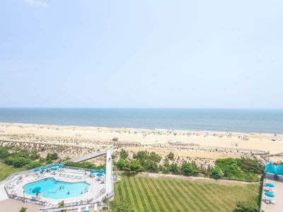 Photo for Sea Colony Oceanfront 2BR, 2BA, Sleeps 8. Private beach, pools, tennis.