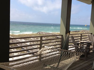 Photo for OCEANFRONT 4 BR HOUSE, 20 STEPS TO BEACH! 2 HUGE OCEANFRONT DECKS.  RENTING 2019