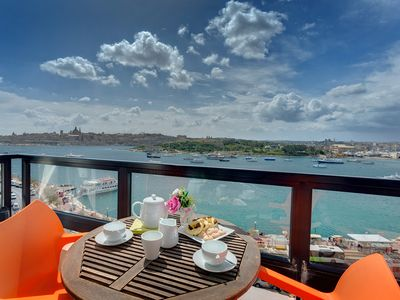 Photo for Majestic Valletta Views - 2BR Luxury Apartment - Two Bedroom Apartment, Sleeps 6