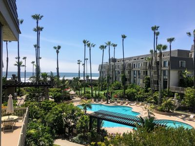Photo for New! West-facing ocean views from both bedrooms & balcony, single story!