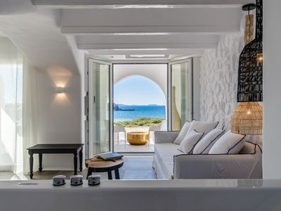 Photo for Cyano Suites offers views over the Aegean Sea and the Temple of Apollo.