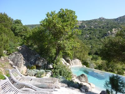 Award winning natural stone pool with magnesium mineral water spa treatment
