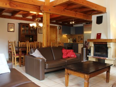 Photo for Sunny luxury chalet, stunning views, garage, 50 meters from the ski lift