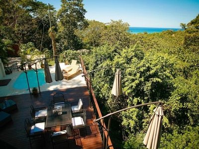 Unique ocean view home located in jungles Canopy with monkeys as daily visitors