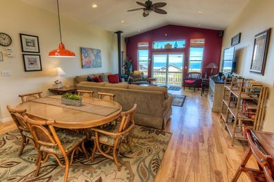 This spacious room is a great place for a family or group gathering.